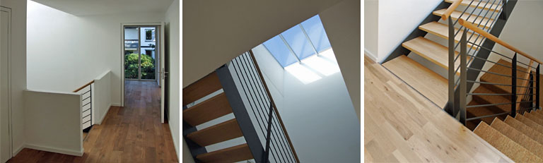 Neubau Hamburg - Wohnzimmer, Treppe