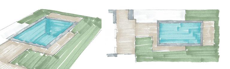 Schwimmbadplanung Konzept R.Nagel - Architekt