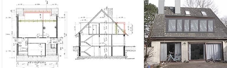 Dacherweiterung Dachgaube - Bauvoranfrage R.Nagel | Architekt